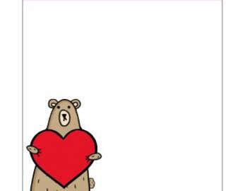 114-Grumpy Bear Loves planner sticker sheet