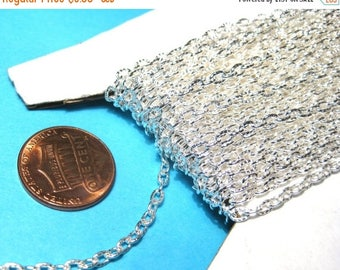 50% OFF Clearance Sale-- Bright Silver Plated Textured Links Opened Cable Chains 4x2mm(No. 967)