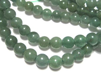 1 Strand 7mm Round Natural Green Aventurine Gemstone Beads