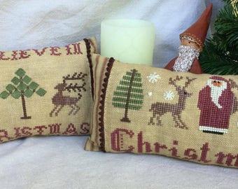 Christmas Pillows serie # 1- Christmas & I Believe