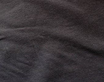 Fabric - French terry - cotton/elastane charcoal - stretch/knit fabric