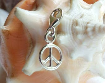 Sterling Silver Peace Charm Handmade