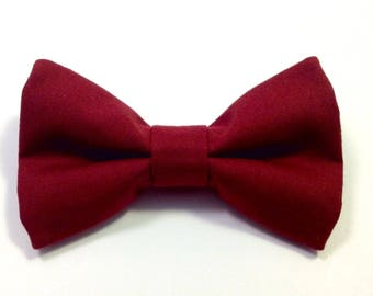 burgundy bow tie cotton bow ties for men red bow tie bowties pre tied clip on