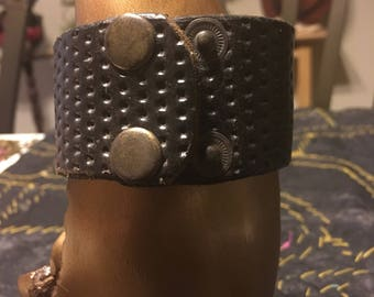 Strong Pure Leather Cuff Bracelets -