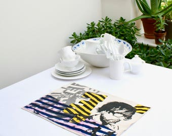 pop culture _ place mats _ handmade _ street style_ spray _ table mats - Jarvis and the Vorticists - set of 6 table mats
