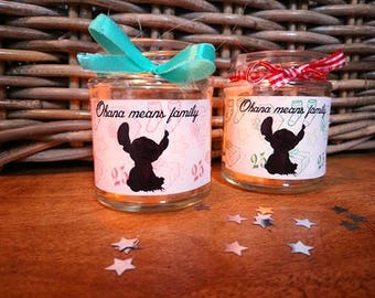Christmas Lilo and Stitch Candle