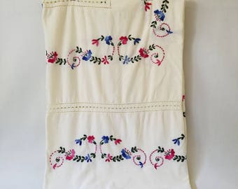 Vintage Embroidered Bed Sheet