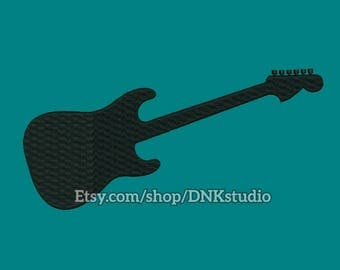 Electric Guitar Embroidery Design - 6 Sizes - INSTANT DOWNLOAD