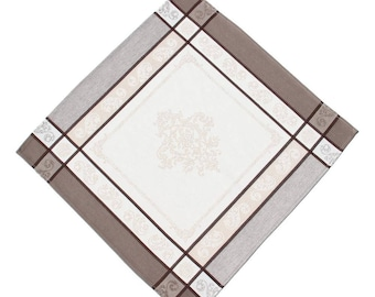 Montmirail Taupe French Jacquard Napkin