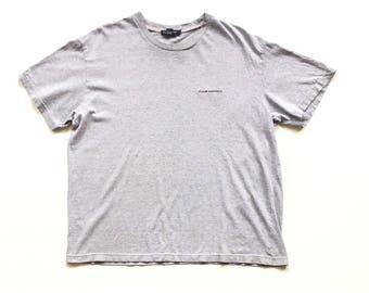 Vintage Club Monaco Circle logo gray short sleeve T Shirt size mens L Large 100% Cotton unisex club monaco spell out tee