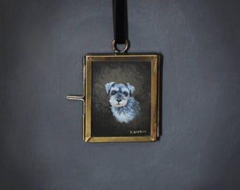 MINIATURE Custom Your Pet Portrait  / Pet Memorial - FRAMED Curio Art (Genuine Watercolour Painting)
