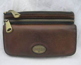 Fossil Brown Leather Wallet Organizer