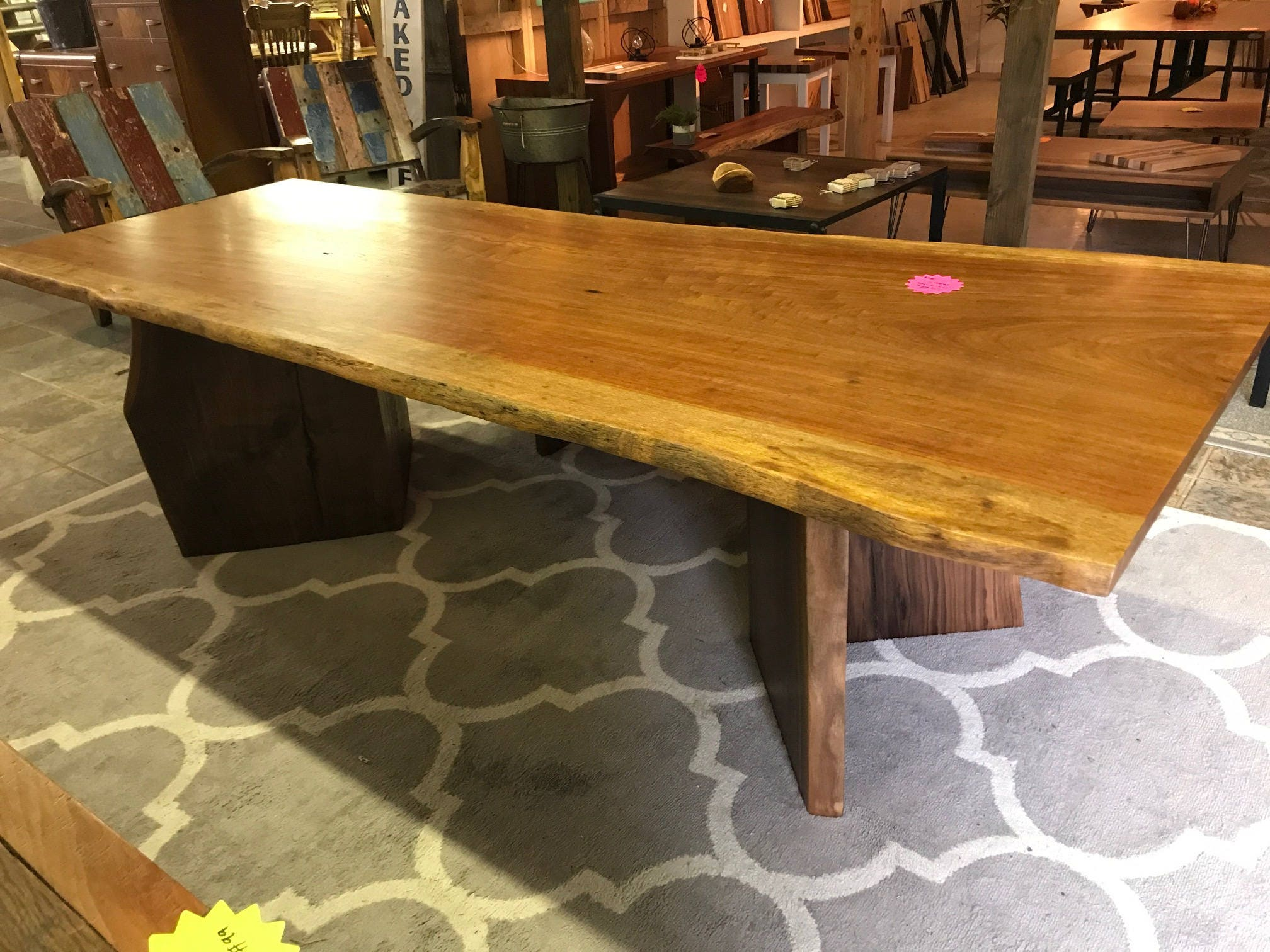 Live edge dining Table, slab Dining Table, Table in Custom Size, Free Shipping