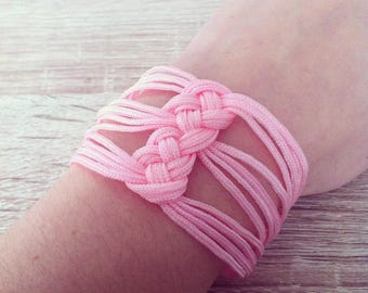 Way pink sailor knot bracelet