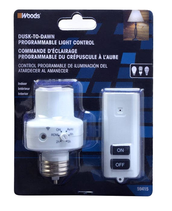 Wireless Remote Control & Programmable Timer Light Socket