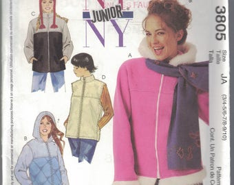 Sewing Pattern for NY Junior Vest and Hat UK ages 3-4/5-6/7-8/9-10 by McCalls  (A48)