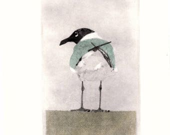 "Etching  ""Tailfeathers"""