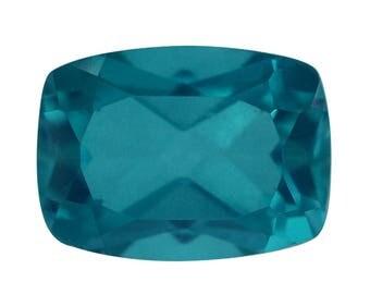 Capri Blue Quartz Triplet Loose Gemstone Cushion Cut 1A Quality 8x6mm TGW 1.60 cts.