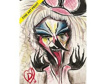 Abhora Fine Art Print by Disasterina
