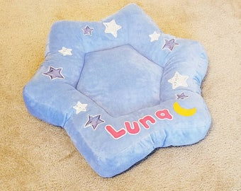 Custom Personalized Star and Moon BED ~~!!! Unique,Lovely Dog ..Pet Bed~!!