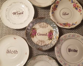 The seven deadly sins plates