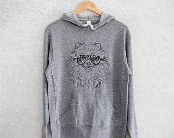 Finn the Pomeranian - Grey French Terry - Unisex Slim Fit