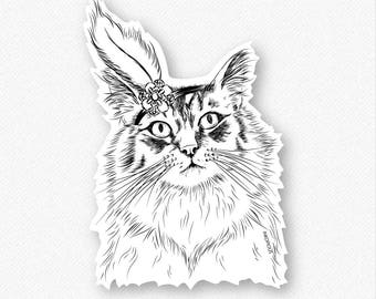 Chloe the Tabby Cat Vinyl Decal Sticker - Gift For Cat Owner, Cat Sticker, Cool Cat, Cat Laptop Sticker, Cat decal, Tabby Cat Decal, Tabby