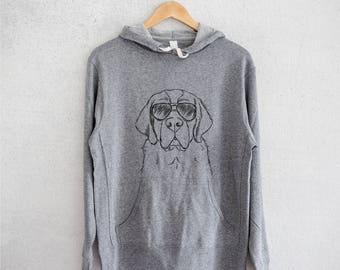 Barry the Saint Bernard - Grey French Terry - Unisex Slim Fit - St. Bernard Lover, Gifts For Dog Owner, Saint Bernard
