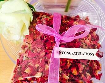 Bespoke Eco-Friendly Rose Petal Wedding Confetti