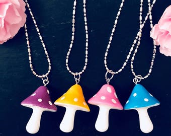 Alice in Wonderland Magical Toadstool Necklace