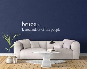 Bruce Springsteen Dictionary Wall Vinyl