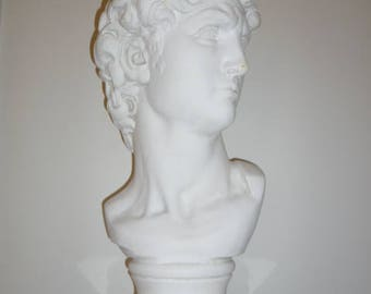 Large antique plaster bust of DAVID circa 1900s