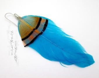 Rachel Amber Life is Strange Blue Feather Cosplay Earring