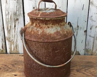Rusty Tin Pail
