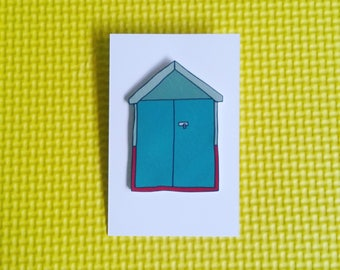Brighton beach hut pin