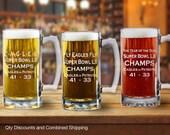 Philadelphia Eagles Super Bowl VII Champs 25oz Beer Mug Stein (4 Styles)
