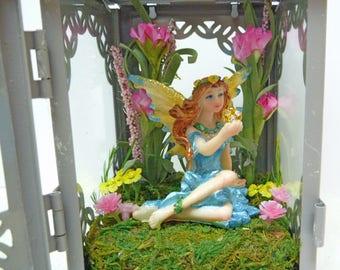Fairy Lantern with Fairy Hanging Fairy Lantern Fairy Night Light Garden Fairy Accessory Fairy Fairy with Crystal Ball Mini Garden Supplies