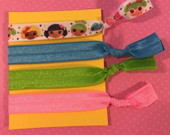 Lalaloopsy Elastic Hair Ties: Set of Four