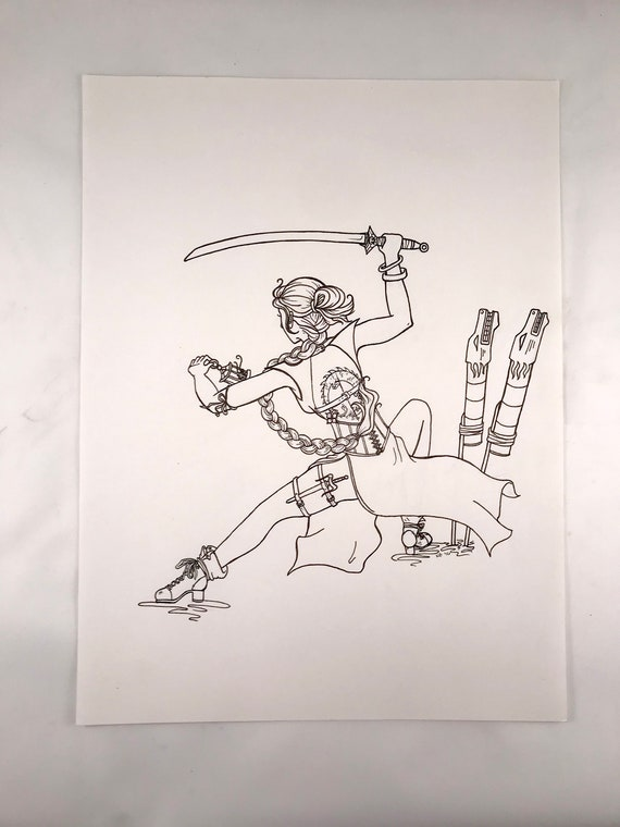 Mulan Illustration   Empowered Princess Series   Women's Empowerment   Women of Power   Disney Princess Hand Drawing