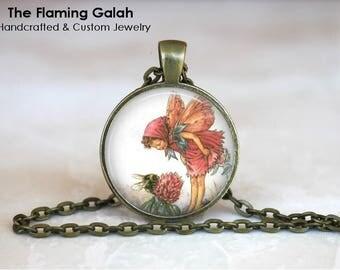 FLOWER FAIRY Pendant • Vintage Flower Fairy • Vintage Fairy • Fairy Art • Gift Under 20 • Made in Australia •  (P1465)
