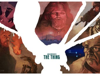 THE THING colour art print John Carpenter 80s horror classic