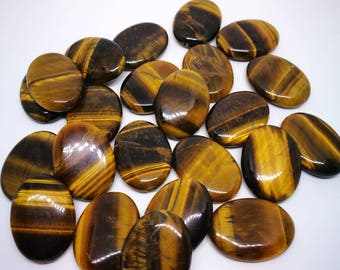 1 Pearl oval 30x22mm pierre natural Tiger eye