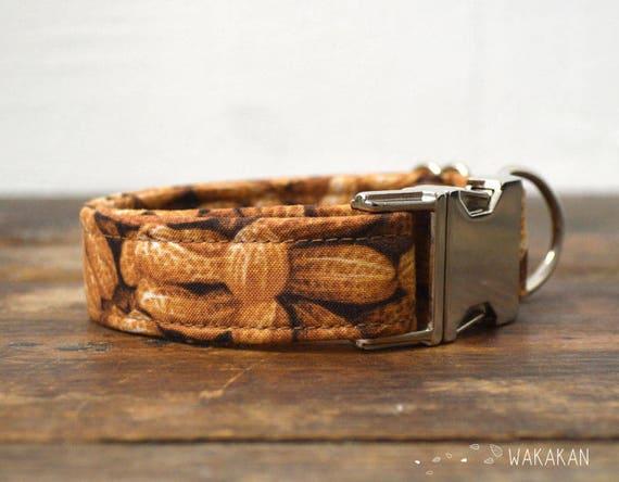 Nuttydog collar adjustable. Handmade with 100% cotton fabric. fruity pattern, summer. Wakakan