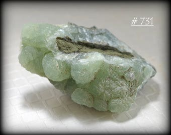 Good-Sized Specimen of Vivid-Green Botryoidal Prehnite - Mineral Specimen from New Jersey