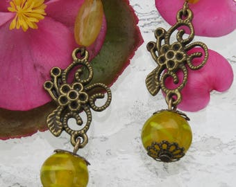 Earrings bronzes elegant flourish by JosieCoccinelle