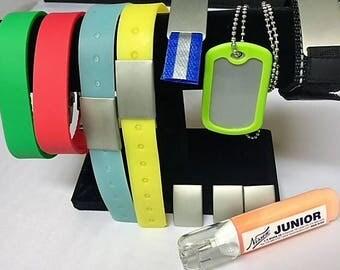 Bracelet Set with Metal Marking ORANGE Marker