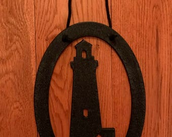 Lighthouse Steel Wall Plaque