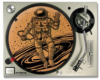 Turntable Slipmat - Lost in Space Cork turntable mat - DJ Slip mat
