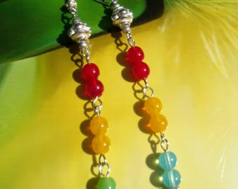 TOUCAN EARRINGS summer pieces colorful Precultivation bright, radiant