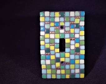 Wildflower Stems Mosaic Switch Plate